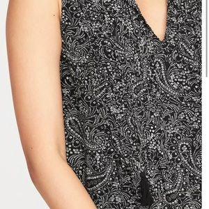 f08383fc6e36 Old Navy Dresses | Black Paisley Sleeveless Swing Dress Brand New ...